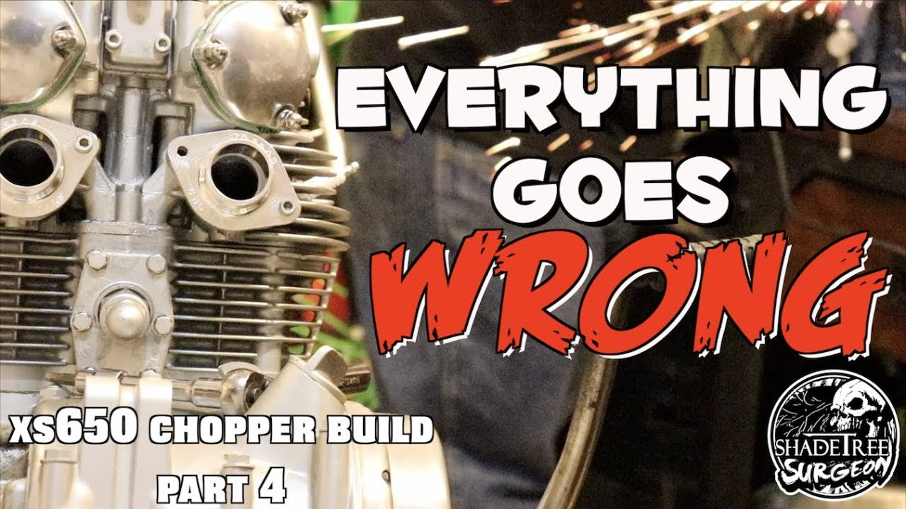 Everything goes WRONG [xs650 chopper build part 4]