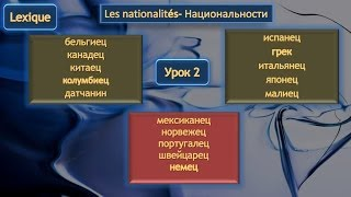 Национальности Часть 3 (дополнение к уроку 2)