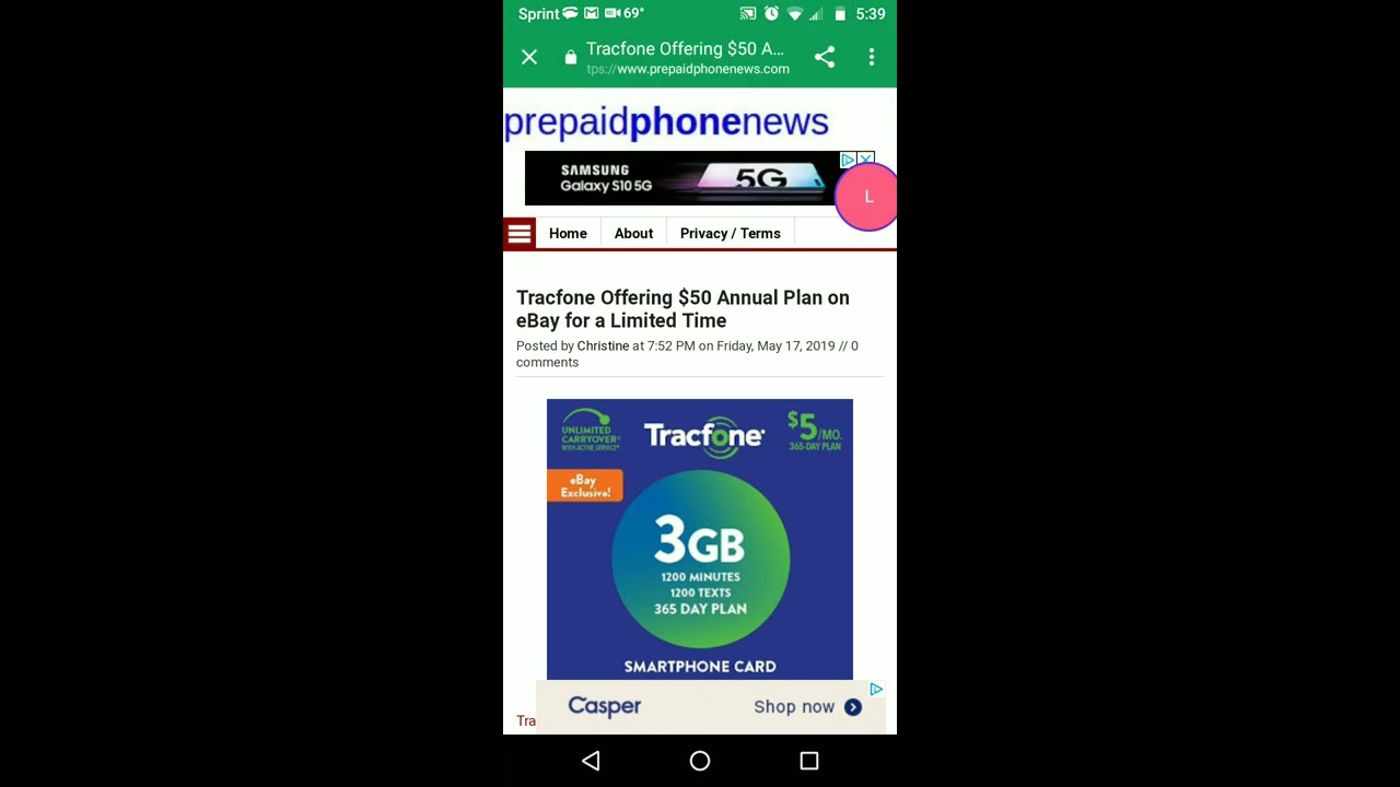 TracFone Annual Plan eBay Exclusive Only $49 99