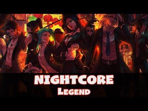 Nightcore - Legend (Lyrics) [Jaroslav Beck & Generdyn feat. Backchat   Beat Saber Soundtrack]