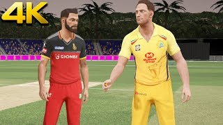 """IPL 2018"" CSK Vs RCB (35th Match) - Don Bradman Cricket 17 (PS4 Pro 4K Gameplay)"
