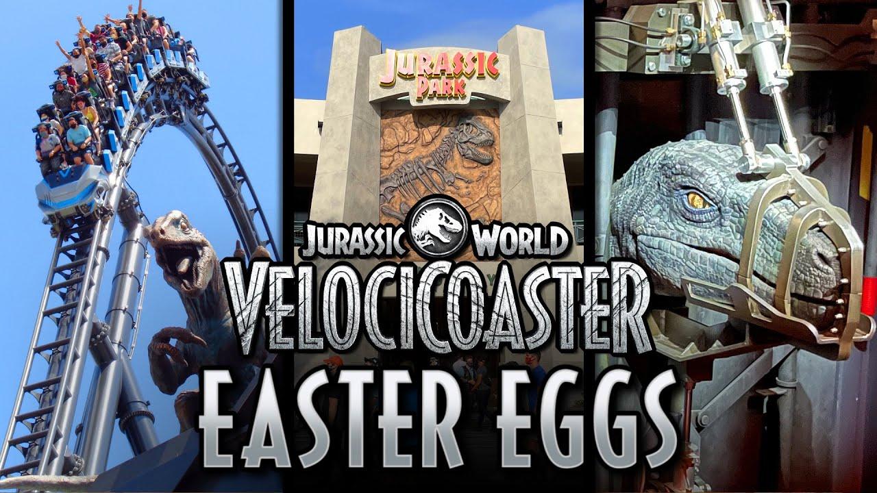 Jurassic World VelociCoaster Easter Eggs at Universal Orlando