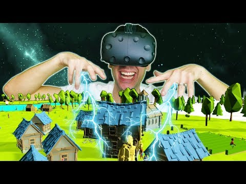 BUILDING AN ENTIRE WORLD AS AN ALL POWERFUL GOD IN VR! - DEISIM VR HTC VIVE Gameplay