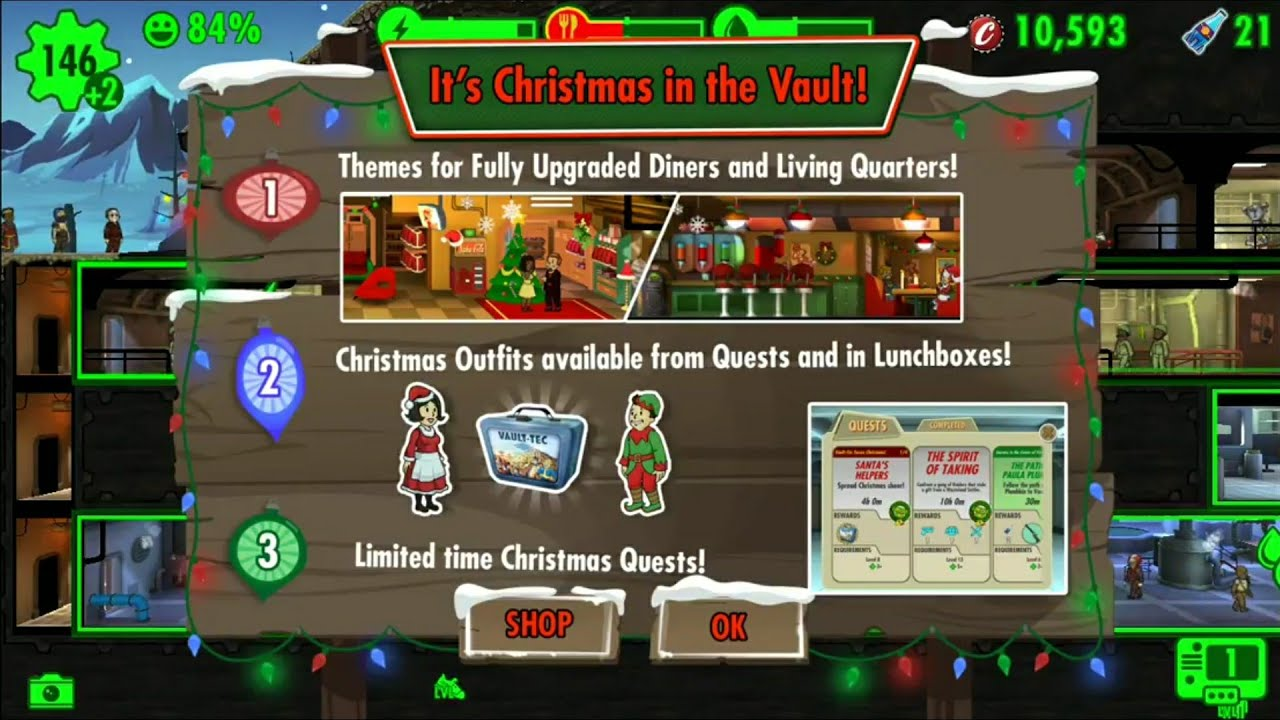 Fallout Shelter Christmas Quest 2020 Fallout Shelter Christmas Update/Quest   YouTube