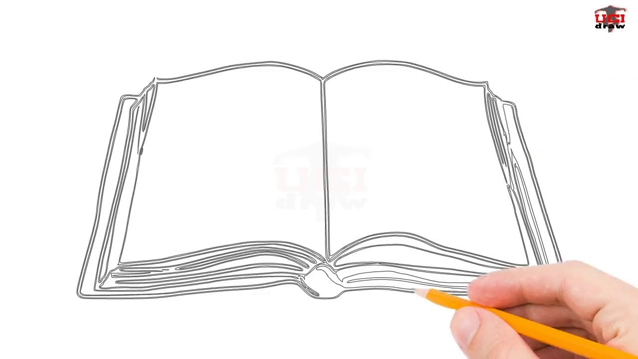 Book Cover Drawing Easy : How to draw a book step by easy for beginners kids