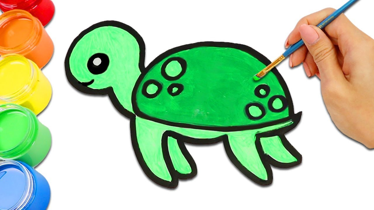Cute Sea Animals Turtle, Fish, Octopus and More Drawing ...
