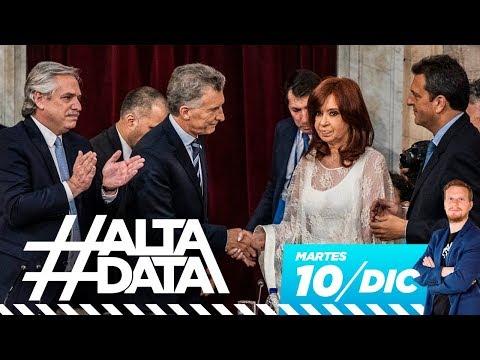 Se terminó la pesadilla: Alberto y Cristina presidentes | #AltaData, todo lo que pasa en un toque