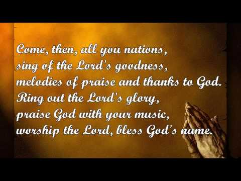 Sing of the Lord's Goodness (Ernest Sands) - YouTube