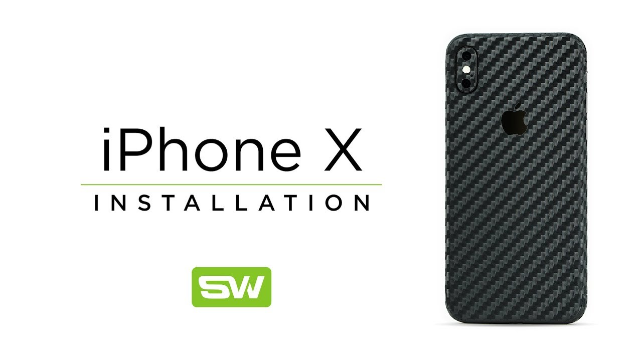 cheaper 61621 a0cde Slickwraps iPhone X, Xs & Xs Max Installation Video