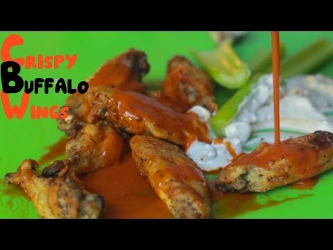 Incredible Crispy Buffalo Wings with Blue Cheese - Oven Baked!