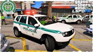 LSPDFR   Día 89   👮POLICIA DE COLOMBIA (NUEVO DUSTER) Persecuciones a Tope!!!