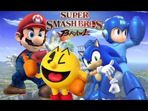 Mario Vs Sonic Vs Megaman Vs Pacman Super Smash Bros. Braw...