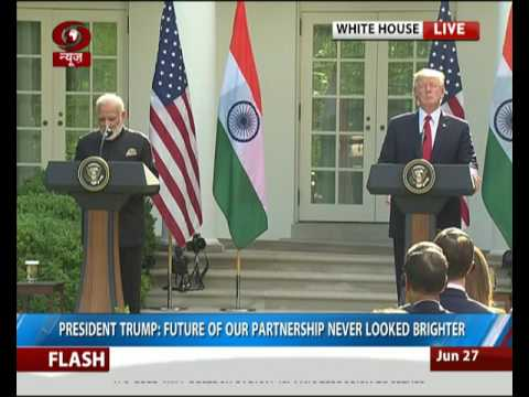 PM Modi and President Trump at Joint Press Statements in Washington D.C.