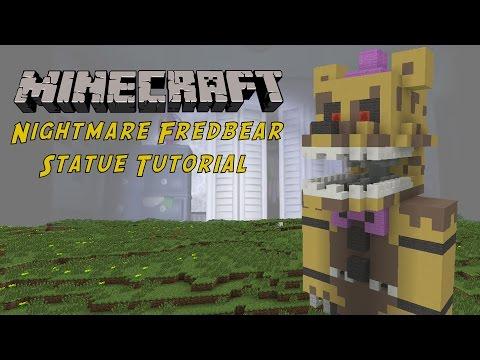 Minecraft Tutorial: Nightmare Fredbear (Five Nights At Freddy's 4) Statue
