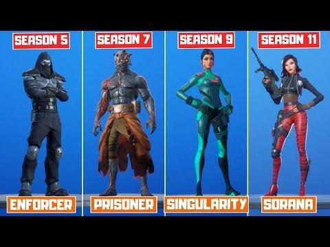The Evolution Of All Mystery Fortnite Skins! (Season 4 - Season 11)