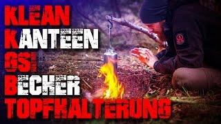 Klean Kanteen - GSI Becher - Topfhalterung - Test Review (german/deutsch) outdoor survival bushcraft