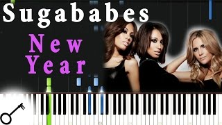 Sugababes - New Year [Piano Tutorial] Synthesia | passkeypiano