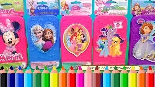 Speed Coloring Toys ! Minnie Mouse, MLP, Frozen Anna and Elsa, Sofia, Disney Princess | SWTAD