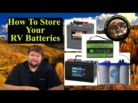 How To Store Your RV Batteries - Lead Acid AGM Lithium - deep cycle battery winter storage