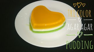 Tri Color Agar Agar Pudding