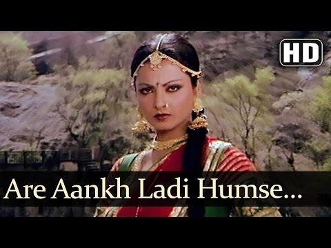 Arre Aankh Ladi Humse - Amitabh Bachchan - Rekha - Ganga Ki Saughand - Bollywood Songs