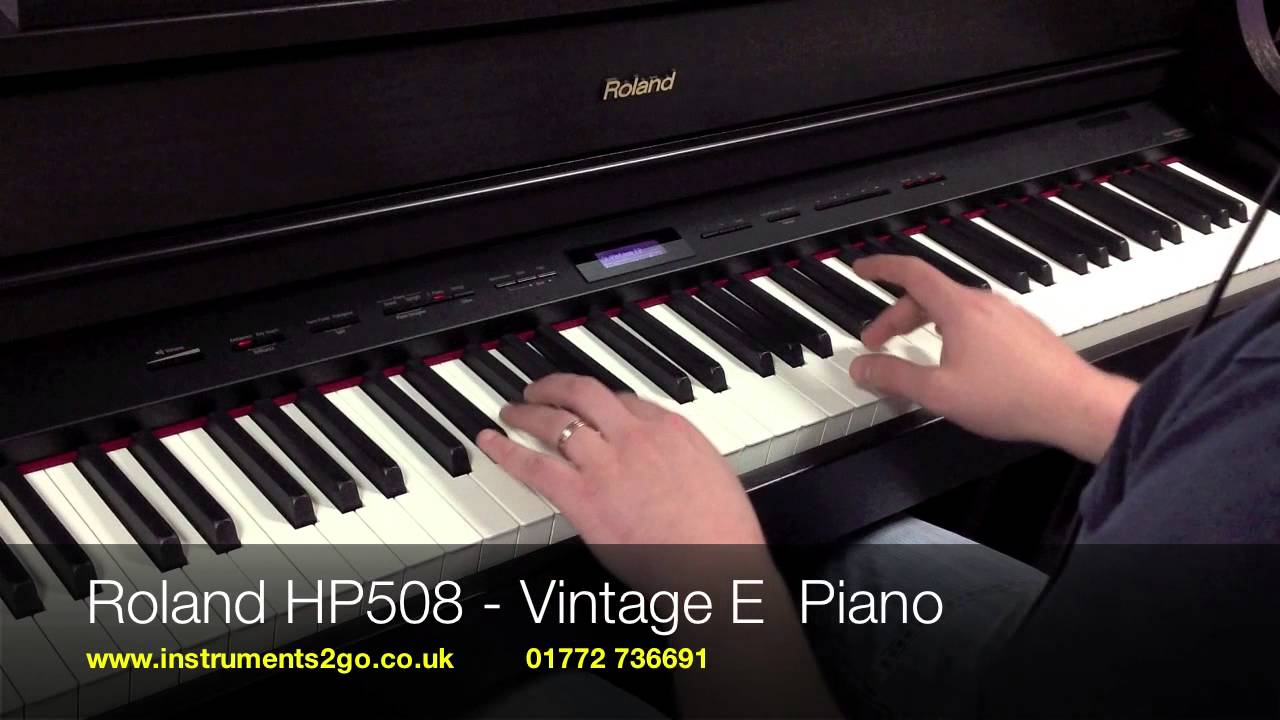 Feb 13, 2014. Roland hp508 digital piano product information: http://www. Roland. Com/products /en/hp508/.