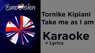 Tornike - Take me as I am (Karaoke) Georgia Eurovision 2020