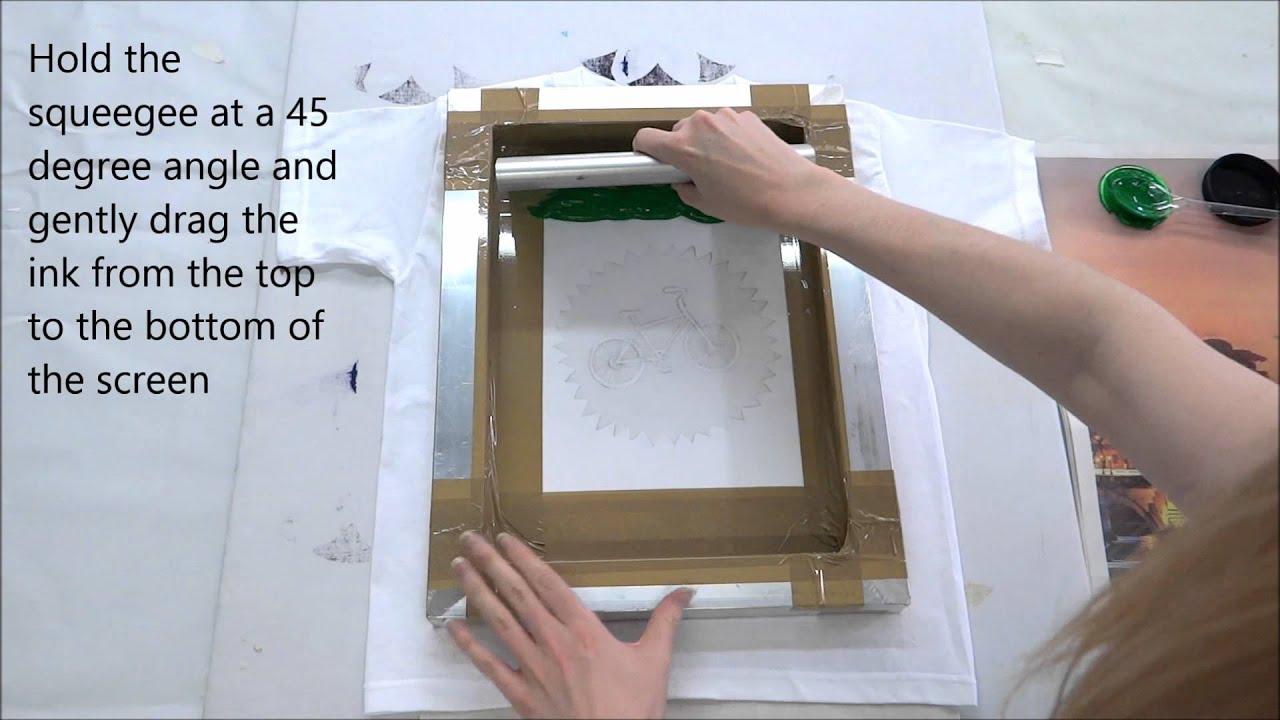 Simple t shirt screen printing youtube for Diy t shirt screen printing at home