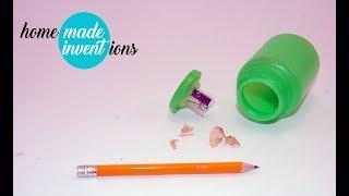 DIY pencil sharpener container