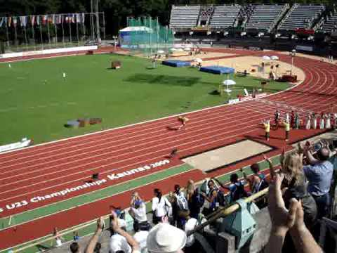 Greetings Lina 100m winner  U23 Kaunas
