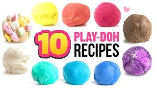 10 EASY Play-Doh Recipes!! DIY 5-Minute Soap Clay, Edible Clay, 2-Ingredient Clay and MORE! thumbnail