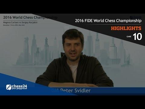 2016 FIDE World Chess Championship - Highlights - Game 10