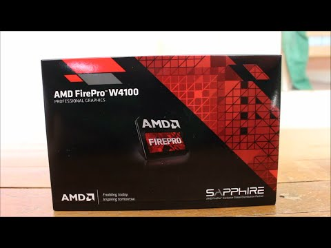 AMD Firepro W4100 : Unboxing et présentation [FR] - YouTube