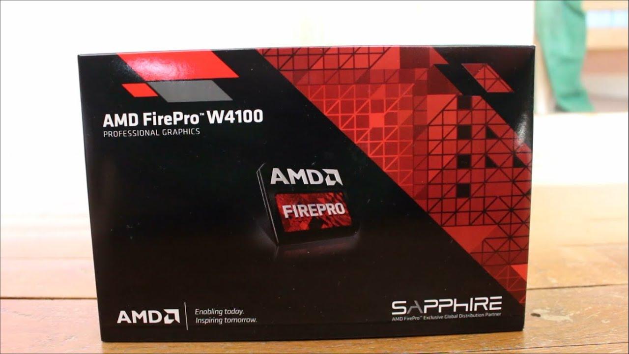 AMD Firepro W4100 : Unboxing et présentation [FR]