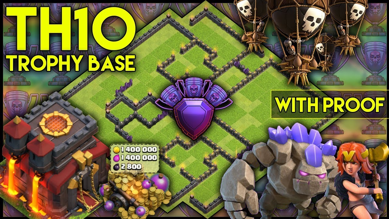 Best Th10 Trophy Base 2020 UNBEATABLE TOWN HALL 10 [TH10] TROPHY BASE! W/ Replays | Anti Air
