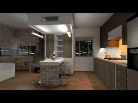Remodelacion apartamento en youtube for Remodelar departamento chico