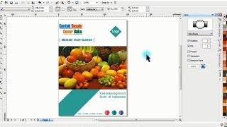 Contoh Membuat Desain Cover Buku di CorelDRAW Belajar CorelDRAW