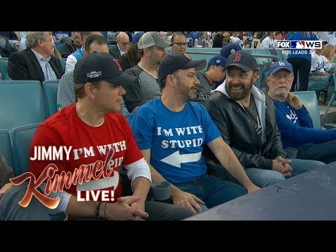 St. Pierre - Jimmy Kimmel Takes His Feud With Matt Damon To The World Series