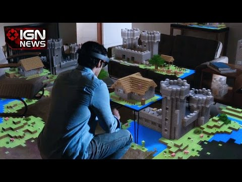Holographic Minecraft Shown By Microsoft IGN News YouTube