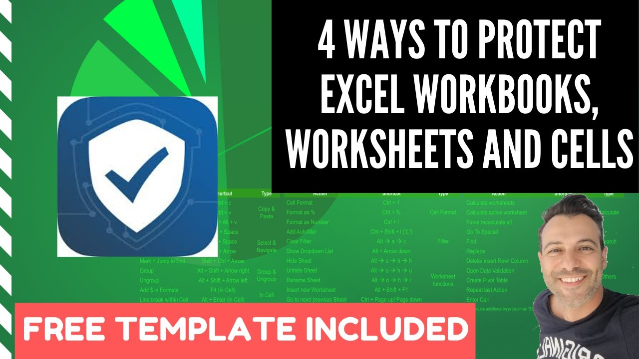 Workbooks workbooks.worksheets : 4 Ways To Protect Excel Workbooks, Worksheets And Cells - YouTube