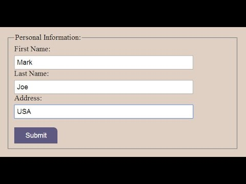 HTML Form With Grouping Data || HTML And CSS