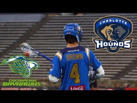 2017 MLL Highlights - Chesapeake Bayhawks vs Charlotte Hounds