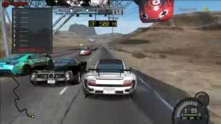 Need For Speed Prostreet - Nevada Highway Speed Challenge Gameplay (PC)
