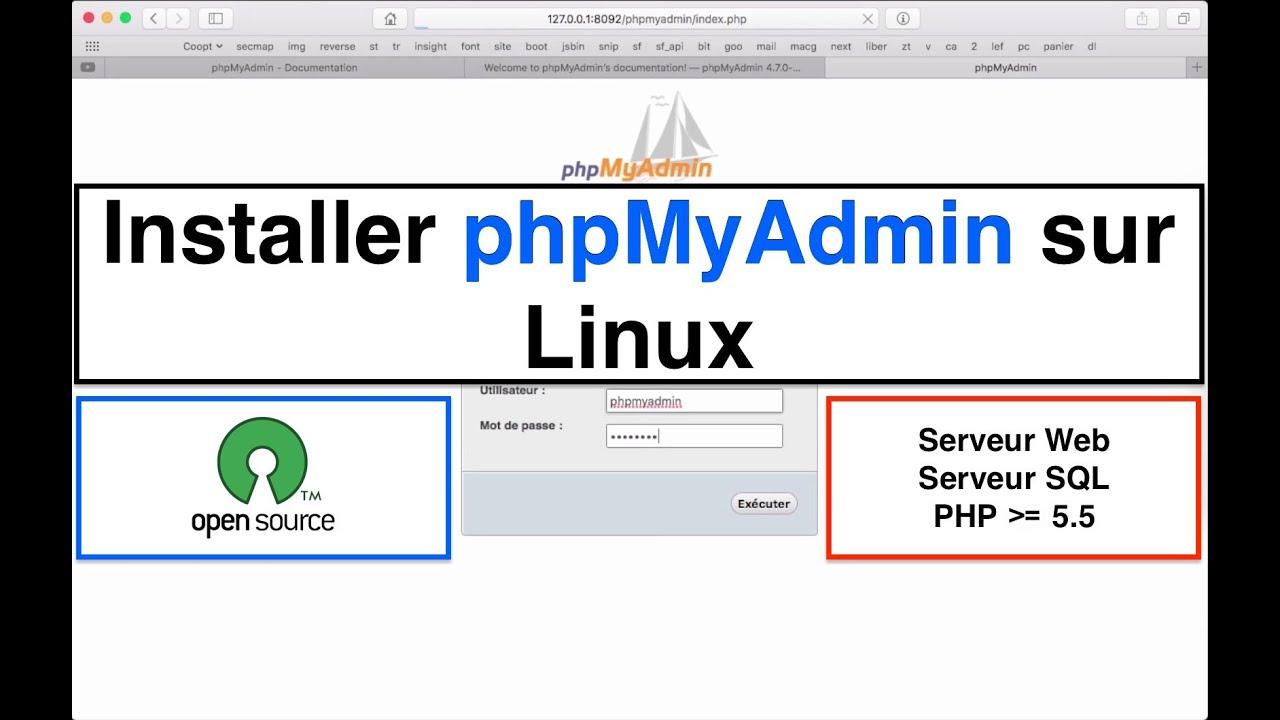 Tutoriel Installer PhpMyAdmin sur Linux