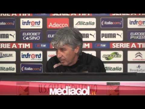 Gian Piero Gasperini in conferenza stampa vigilia Palermo-Siena - 09/03/2013 - Mediagol.it
