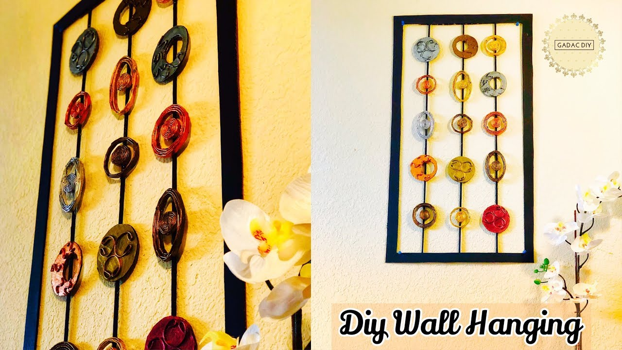 Wall Hanging Ideas DIY | Newspaper Wall Hanging | Craft Ideas for ...