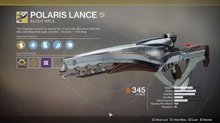 Destiny 2 - Nascent Dawn 4/5 Full Quest Chain (Polaris Lance Exotic Reward)