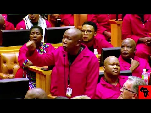 Chaos In Parliament - Julius Malema And EFF Disrupts SONA 2020