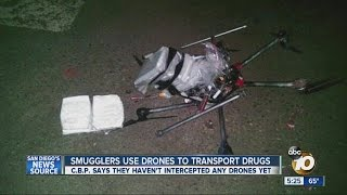 Smugglers use drones to transport drugs