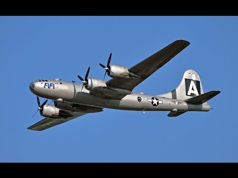 """FiFi"" - The Last Flying B29 Superfortress over Los Angeles"